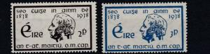 IRELAND 1938    S G 107 - 108  TEMPORENCE   SET OF 2    MH
