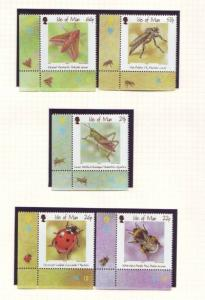 Isle of Man Sc 895-9 2001 Insects stamp set NH