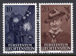 Liechtenstein 315-316 Boy Scouts MNH VF