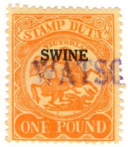 (I.B) Australia - Victoria Revenue : Swine Duty £1