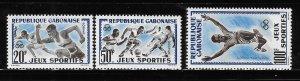 Gabon 1962 Abidjan Games Issue Sc 163-164, C6 MNH A1886
