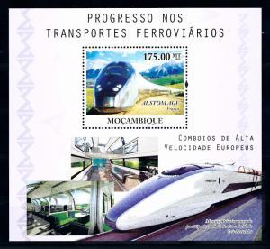 [61475] Mozambique 2010  Railway Train Eisenbahn Chermin De Fer Sheet MNH