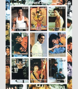 BRUCE LEE Martial Artist Sheet Imperforated Mint (NH)