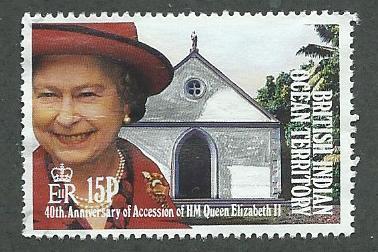 British Indian Ocean Territory  Scott 119 Used  Elizabeth II