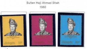 Malaysia Scott 204-206 MNH** set