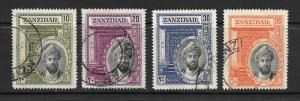 Zanzabar #214 - 217 Used set Anniversary Sultan Khalifabi Harub 2015 SCV= $9.25