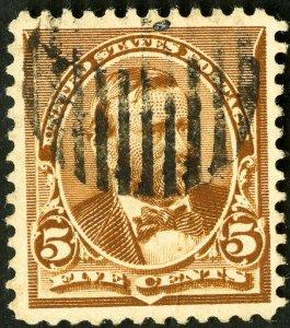 US Stamps # 223 Used Superb Unusual cancel