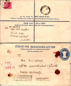 India, Registered, Postal Stationary