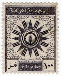 (I.B) Iraq Revenue : Duty Stamp 100f