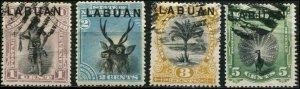 Labuan SC# 49-52 Scenes & Virws used sc#50 thin
