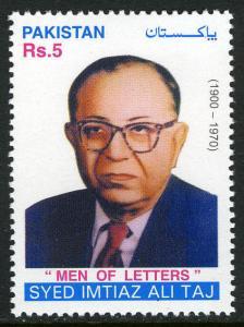 Pakistan 982, MNH. Syed Imtiaz Ali Taj, playwrighter, 2001