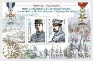H01 France 2019 Joint Issue France Poland  MNH Postfrisch