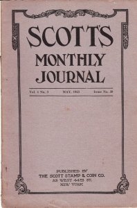 Scott's Monthly Journal May 1923 Stamp Collecting Magazine