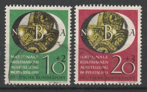 WEST GERMANY 1951 PHILATELIC EXHIBITION SET USED
