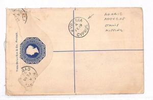 GG85 1892 Cyprus Kyrenia Registered Letter Postal Stationery{samwells-covers}PTS