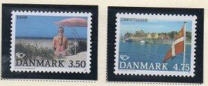 Denmark  Scott 939-40 1991 Danish Islands stamp set mint NH