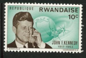 RWANDA Scott  130 JFK stamp