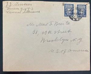1929 Kaunas Lithuania cover To Brooklyn NY Usa