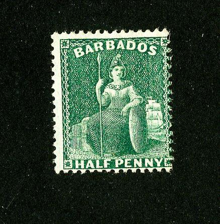 Barbados Stamps # 44 Fresh OG LH Scott Value $85.00