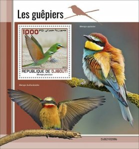 2021/05- DJIBOUTI - BEE-EATERS           1V complet set    MNH ** T