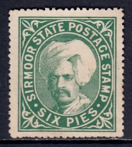 India (Sirmoor) - Scott #5 - MNG - Light crease, short perfs - SCV $6.50