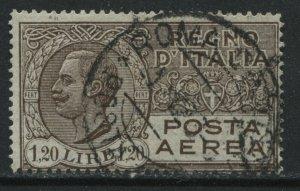 Italy 1927 1.20  lira Airmail used