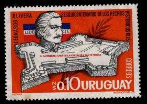 Uruguay Scott 913 MH* Santa Teresa Fort stamp