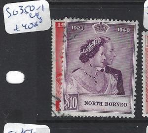 NORTH BORNEO  (P0612B) SILVER WEDDING SG 350-1   VFU