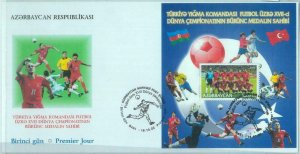 84822 - AZERBAIJAN - Postal History -  FDC COVER  Turkish FOOTBALL  team 2002