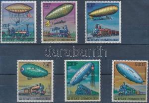 Comoroes stamp Aviation set MNH 1977 Mi 339-344A Traffic Vehicles WS231207