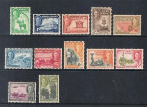 Gold Coast 1948 KGV Sc 130-141 set MNH