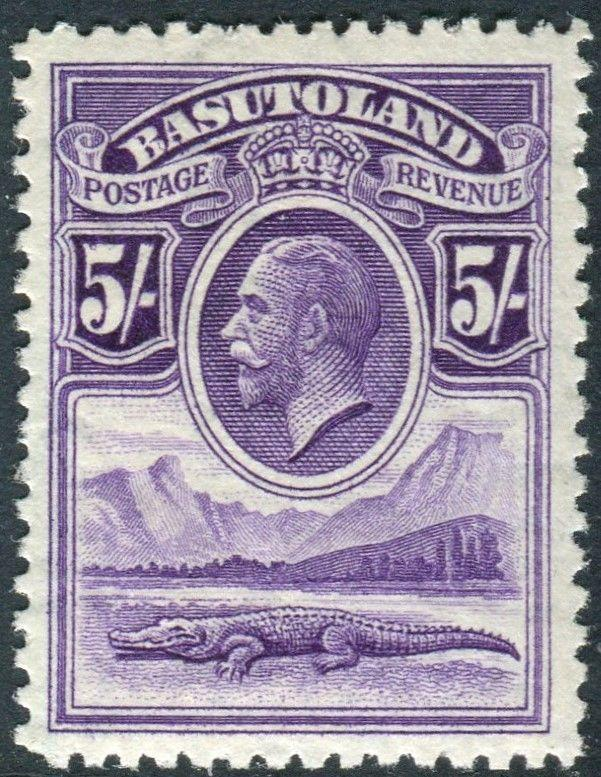 BASUTOLAND-1933 5/- Violet.  A mounted mint example Sg 9