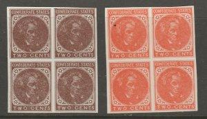 USA Confederate Reprints revenue Cinderella stamp 6-2