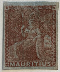 AlexStamps MAURITIUS #7 IMPERF SUPERB Mint