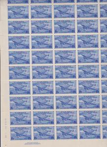 Canada USC #CE1 Mint 1942 16c Air Mail Spec Delivery Plate 1 Sheet of 50 - VF-NH