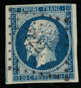 1853-1861, Emperor Napoléon III, France, 20 c, SC #13, CV $ 352 (Т-8005)