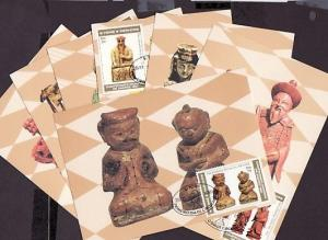 St. Thomas, Scott cat. 618-624. World Chess Championship issue as 7 Max. Cards.