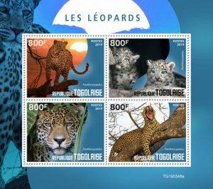 TOGO - 2019 - Leopards - Perf 4v Sheet - MNH