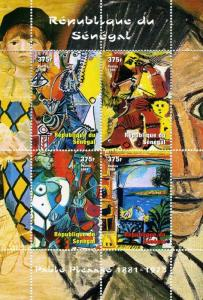 Senegal 1999 PABLO PICASSO Paintings Sheet Perforated Mint (NH)