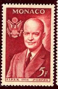 Monaco 1956: Sc. # 357; */MH Single Stamp
