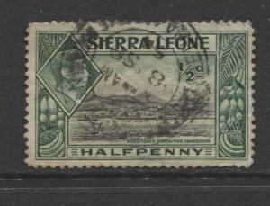 Sierra Leone - Scott 173 - KGVI - Definitive -1938 - FU - Single 1/2d Stamp