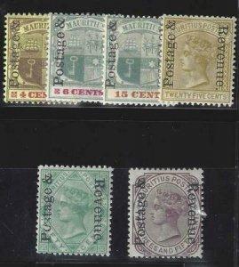 Mauritius 1902 SC 118-123 MLH Set