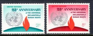 UN New York 242-243 MNH VF