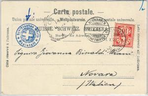 64102 - SWITZERLAND  - POSTAL HISTORY: POSTCARD to ITALY 1902