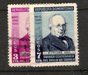 DOMINICAN REPUBLIC 356-7 ROWLAND HILL VFU
