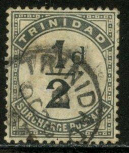 TRINIDAD Sc#J1 1885 ½p Postage Due Stamp