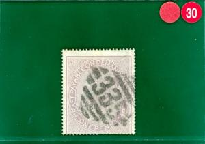 RRED30 GB 1d Postal Fiscal VFU Ireland Postmark '335' MONASTEREVIN Kildare Eire