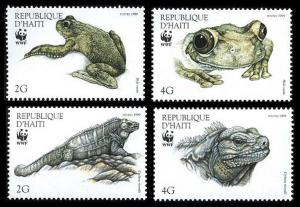 Haiti WWF Ground Iguana and Giant Tree-frog 4v SG#1636-1639 MI#1588-1591 SC#913