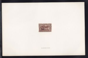 234 P1 large die india proof on card scarce nice color cv $ 850 ! see pic !