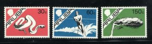 Aruba #5,9,15   Mint NH VF 1986-87 PD